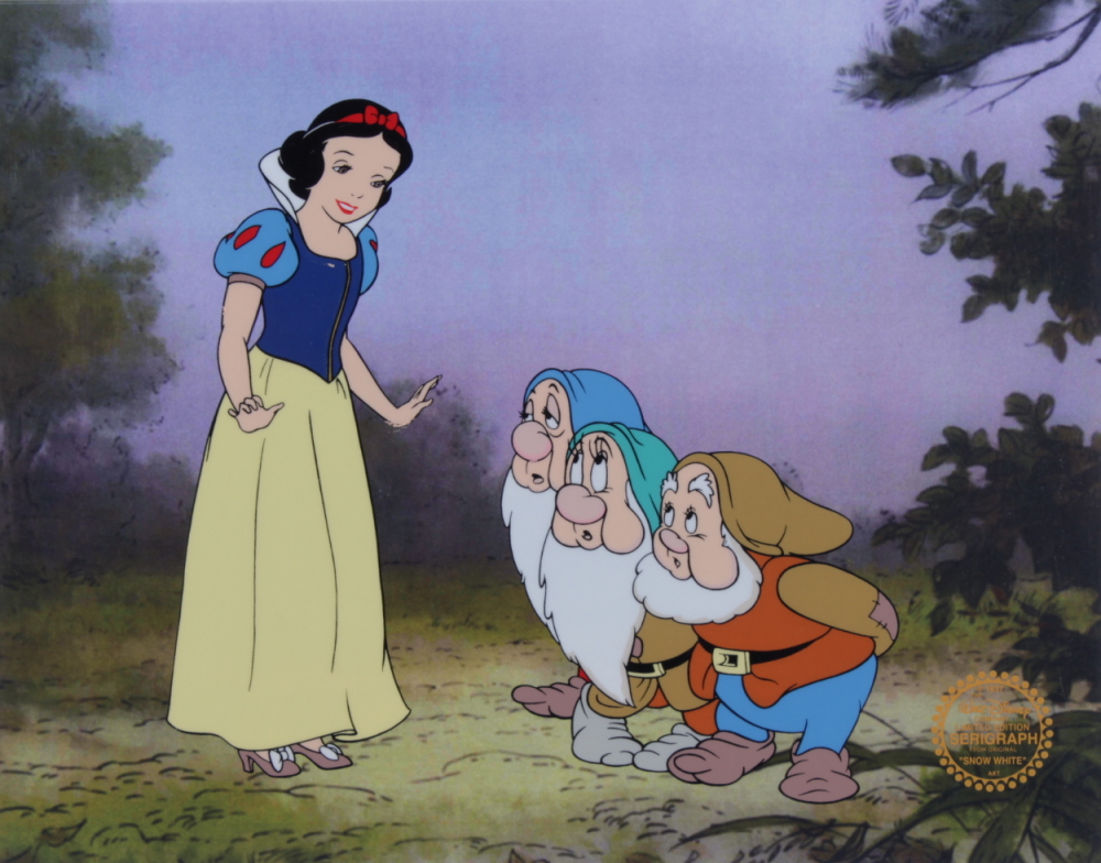 "Walt Disney ""Snow White & the Seven Dwarfs"" 11x14 (2) Piece Animation Serigraph Cel with Disney Seal at PristineAuction.com"