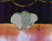 "Walt Disney's ""Dumbo"" LE 11x14 (2) Piece Animation Serigraph Cel with Disney Seal at PristineAuction.com"