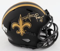 Alvin Kamara Signed Saints Eclipse Alternate Speed Mini Helmet (Beckett COA) at PristineAuction.com