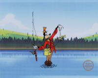 "Walt Disney's ""How To Fish"" LE 11x14 (2) Piece Animation Serigraph Cel with Disney Seal at PristineAuction.com"