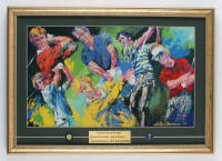 """Leroy Neiman 16.25x22.75 Custom Framed """"Golf's Greatest 1981"""" Lithograph Display with (2) Pins (See Description) at PristineAuction.com"""