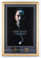 """""""John Wick"""" 15x22 Custom Framed Movie Poster Display with Movie Prop Replica Gold Coin & Continental Hotel Keycard (See Description) at PristineAuction.com"""