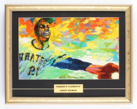 "Leroy Neiman ""Roberto Clemente"" 15"" x 18.75"" Custom Framed Lithograph Display (See Description) at PristineAuction.com"