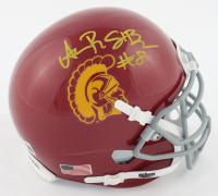 Amon-Ra St. Brown Signed USC Trojans Mini Helmet (Beckett COA) at PristineAuction.com