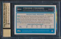 Freddie Freeman 2009 Bowman Chrome Prospects Refractors #BCP101 Autograph (BGS 9.5) at PristineAuction.com