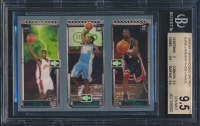 2003-04 Topps Rookie Matrix #JAW LeBron James RC / Carmelo Anthony RC / Dwyane Wade RC (BGS 9.5) at PristineAuction.com