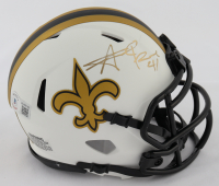 Alvin Kamara Signed Saints Lunar Eclipse Alternate Speed Mini Helmet (Beckett COA) at PristineAuction.com