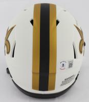 Alvin Kamara Signed Saints Lunar Eclipse Alternate Speed Mini Helmet (Beckett COA) at PristineAuction.com