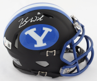 Zach Wilson Signed BYU Cougars Matte Black Speed Mini Helmet (Beckett COA) at PristineAuction.com