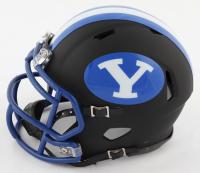 Zach Wilson Signed BYU Cougars Matte Black Speed Mini Helmet (Beckett COA) at PristineAuction.com