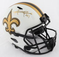 Alvin Kamara Signed Saints Lunar Eclipse Alternate Full-Size Speed Helmet (Beckett COA) at PristineAuction.com