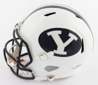 Zach Wilson Signed BYU Cougars Full-Size Speed Helmet (Beckett Hologram) at PristineAuction.com
