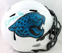 Fred Taylor Signed Jaguars Full-Size Lunar Alternate Speed Helmet (Beckett Hologram) at PristineAuction.com