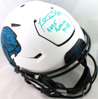 """Fred Taylor Signed Jaguars Full-Size Authentic On-Field Lunar Alternate SpeedFlex Helmet Inscribed """"11,695 Rushing Yards"""" (Beckett Hologram) at PristineAuction.com"""