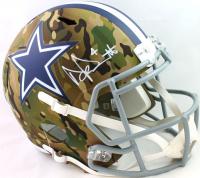 Dak Prescott Signed Cowboys Full-Size Camo Alternate Speed Helmet (Beckett Hologram) at PristineAuction.com