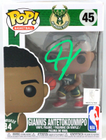 Giannis Antetokounmpo Signed Bucks #45 Funko Pop! Vinyl Figure (Beckett COA) at PristineAuction.com