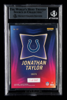 Jonathan Taylor Signed 2020 Panini Instant Draft Night #10 (BGS Encapsulated) at PristineAuction.com