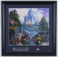 "Thomas Kinkade Walt Disney's ""Cinderella"" 16x16 Custom Framed Print Display with Cinderella Pin at PristineAuction.com"