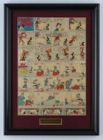"Vintage Disney's ""Walt Disney's Mickey Mouse & Silly Symphony Cartoons"" 14x19 Custom Framed Comic Strip Display at PristineAuction.com"