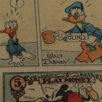 "Vintage Disney's ""Walt Disney's Mickey Mouse & Silly Symphony Cartoons"" 14x19 Custom Framed Comic Strip Display at PristineAuction.com"