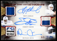 Troy Aikman / Emmitt Smith / Michael Irvin 2020 ITG Used Sports Triple Autographs Red Spectrum #GUTA05 at PristineAuction.com