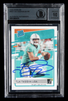 Tua Tagovailoa Signed 2020 Donruss #302 RR RC (BGS Encapsulated) at PristineAuction.com