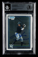 "Christian Yelich Signed 2010 Bowman Chrome Draft Prospects #BDPP78 Inscribed ""18 NL MVP"" (BGS Encapsulated) at PristineAuction.com"
