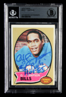 "O.J. Simpson Signed 1970 Topps #90 RC Inscribed ""#1 Pick"" & ""HOF 85"" (BGS Encapsulated) at PristineAuction.com"