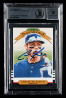 Christian Yelich Signed 2019 Donruss #21 DK (BGS Encapuslated) at PristineAuction.com