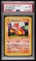 Charmeleon 1999 Pokemon Base Shadowless #24 U (PSA 8) at PristineAuction.com
