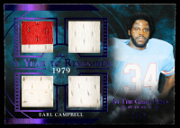 Earl Campbell 2020 ITG Used Sports A Year to Remember Quad Memorabilia Purple Spectrum #AYR13 at PristineAuction.com
