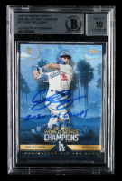 "Cody Bellinger Signed 2020 Dodgers Topps x Ben Baller World Series Champions #27 Inscribed ""2020 WS Champs"" (BGS Encapsulated) at PristineAuction.com"