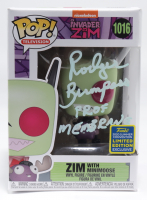 """Rodger Bumpass Signed LE """"Invader Zim"""" #1016 Zim with Minimoose Nickelodeon Funko Pop! Vinyl Figure Inscribed """"Prof Membrane"""" (PSA Hologram) (See Description) at PristineAuction.com"""