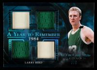 Larry Bird 2020 ITG Used Sports A Year to Remember Quad Memorabilia Platinum Blue Spectrum #AYR27 at PristineAuction.com