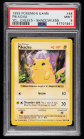 Pikachu 1999 Pokemon Base Shadowless #58 Yellow Cheeks (PSA 9) at PristineAuction.com