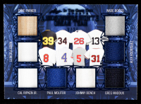 2020 ITG Used Sports A Midsummer Night's Dream Team Navy Blue #MNDT10 Dave Parker / Kirby Puckett / Wade Boggs / Alex Rodriguez / Cal Ripken Jr. / Paul Molitor / Johnny Bench / Greg Maddux at PristineAuction.com