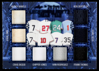 2020 ITG Used Sports A Midsummer Night's Dream Team Navy Blue #MNDT06 Mickey Mantle / Mike Trout / Ken Griffey Jr. / Ozzie Smith / Craig Biggio / Chipper Jones / Ivan Rodriguez / Frank Thomas at PristineAuction.com