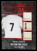 Mickey Mantle 2020 ITG Used Sports A Career Day Triple Memorabilia Red Spectrum #CD23 at PristineAuction.com