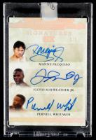 2020 Leaf Superlative Sports Superlative Signatures Six Silver Spectrum #SS604 Manny Pacquiao / Floyd Mayweather Jr. / Pernell Whitaker / Zab Judah / Errol Spence Jr. / Micky Ward at PristineAuction.com