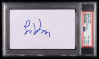 Larry King Signed 3x5 Index Card (PSA Encapsulated) at PristineAuction.com