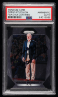 Gregg Popovich Signed 2017-18 Panini Prizm #300 CO (PSA Encapsulated) at PristineAuction.com