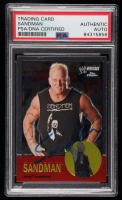 Sandman Signed 2007 Topps Heritage II Chrome WWE #19 (PSA Encapsulated) at PristineAuction.com