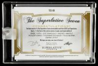 2020 Leaf Superlative Sports The Superlative 7 Memorabilia Red Spectrum #TSS06 Babe Ruth / Joe DiMaggio / Mickey Mantle / Roger Maris / Thurman Munson / Yogi Berra / Derek Jeter at PristineAuction.com