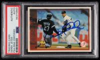 Derek Jeter Signed 1996 Topps Laser Bright Spots #13 (PSA Encapsulated & JSA Hologram) at PristineAuction.com