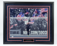 "Tim Howard Signed Team USA 21.5x25.5 Custom Framed Photo Display Inscribed ""USA"" (JSA COA) at PristineAuction.com"