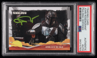 John Rosengrant Signed 2020 Star Wars The Mandalorian Journey of the Child #8 Giving In To The Child (PSA Encapsulated) at PristineAuction.com