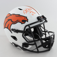 "Peyton Manning Signed Broncos Full-Size Lunar Eclipse Alternate Speed Helmet Inscribed ""HOF 21"" (Fanatics Hologram) (See Description) at PristineAuction.com"