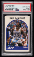 Karl Malone Signed 1989-90 Hoops #30 (PSA Encapsulated) at PristineAuction.com