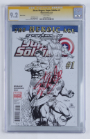 "Stan Lee Signed 2010 ""Steve Rogers: Super-Soldier"" Issue #1 Limited Sketch Variant Cover Marvel Comic Book (CGC Encapsulated - 9.2) at PristineAuction.com"