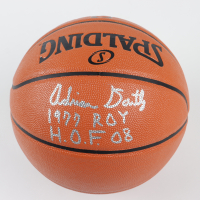 "Adrian Dantley Signed NBA Game Ball Series Basketball Inscribed ""1977 ROY"" & ""H.O.F. 08"" (Schwartz COA) at PristineAuction.com"